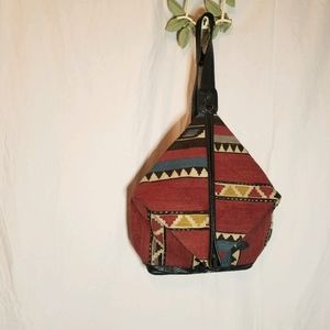 KILIM ART VINTAGE CARPET BOHO/HIPPIE BACKPACK